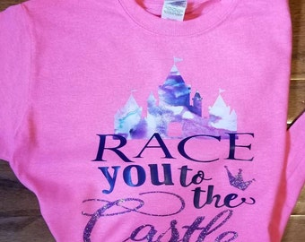 Disney Race you to the castle girls t shirts