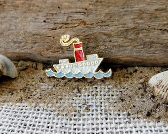 Vintage Cruise Boat Pin ~ Brooch ~ Jam Cruise Pin