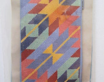 Santa Fe Eyeglass Case ALICE PETERSON Stitch & Zip Preassembled Needlepoint Kit