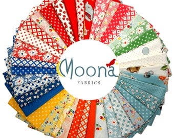 Modern Farmhouse Fat Quarter Fabric Bundle, Mid Century Decor, 1950s, 1960s, Hop Skip Jump, American Jane, Vintage Baby, Country Decor
