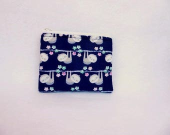 Sloth print Coin Bag // Party favors //