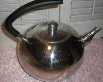 Vintage Stainless Steel Tea Kettle