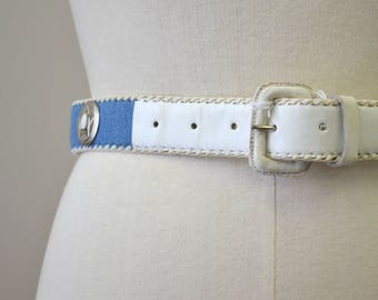1980s NOS Chambray Concho Belt