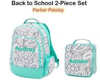 "Personalized ""Back to School"" 2-Piece Parker Paisley Set"