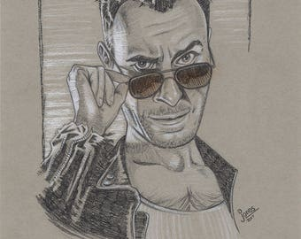 Drawing of Cassidy the Vampire from Preacher