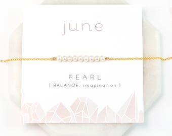 June Birthstone Necklace, Pearl Necklace Choker, Pearl Bar Necklace Gold, Tiny Freshwater Pearl Necklace, Dainty Pearl, Personalized Gifts