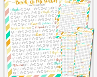 Book of Mormon Reading Chart Pack for Girls/Young Women (Melon) Bookmarks, Poster, Handouts