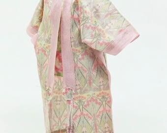 DOLLHOUSE MINIATURE 12th ScaleHand Printed Silk Dressing Gown