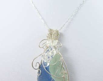 Asymmetrical Sea Glass Necklace