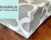 Dog Bed Cover - Many Colors - Designer French Quatrefoil or Triangle print- Made to Order Covers
