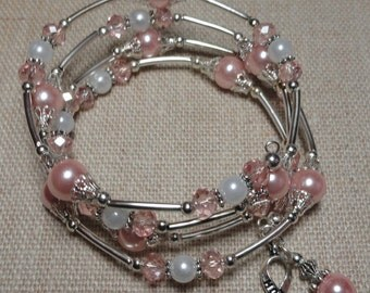 133 Breast Cancer Awareness  Wrap Bracelet