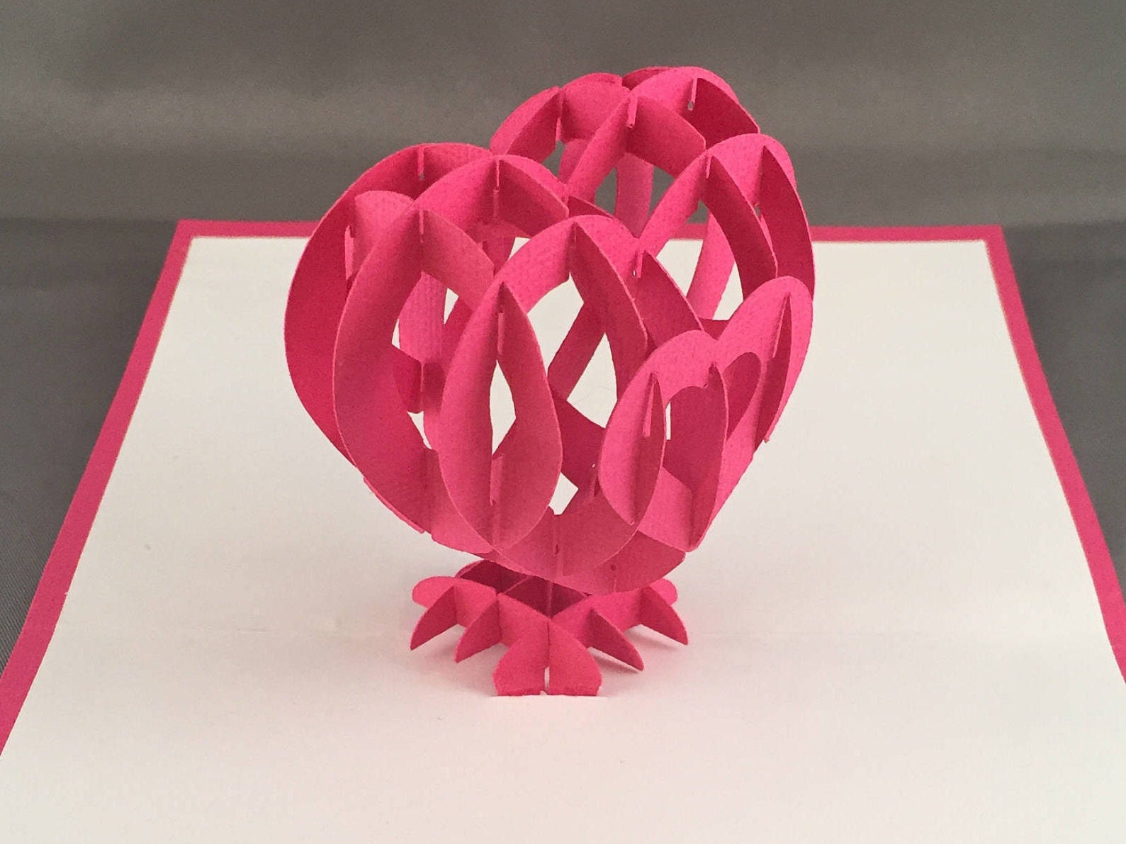 cute pop up valentines day card with 3d heart valentine love card wedding card anniversary card i love you card card for girlfriend - Valentine Love Cards