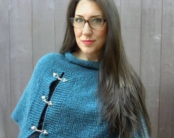 Knitting Pattern ~ Lapis Capelet ~ Knitting Pattern