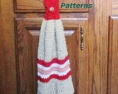 Crochet Dishtowel Pattern, EcoFriendly Hanging Dishtowel, 6 Patterns in One, Striped Hanging Dishtowel Crochet Pattern, Shower Gift, PDF 504
