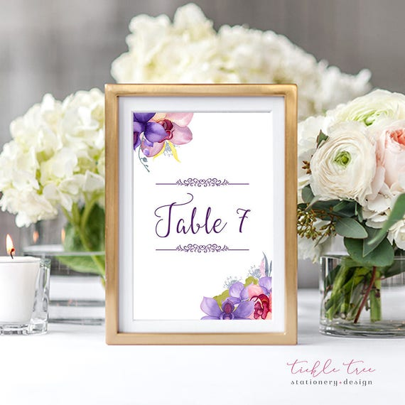 Table Numbers - Wild Orchids (Style 13746)