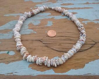 Puka shells tiger necklace