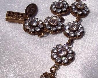 Vintage Lizpaiacios Rhinestone Bracelet FREE SHIPPING