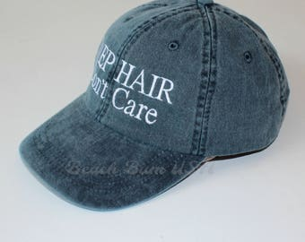 Baseball Caps, Embroidered Adams Hat Monogrammed Gift, Custom Quote Don't Care Caps