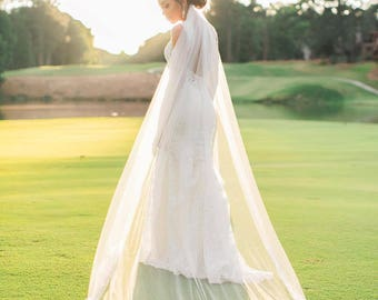 Lace Cathedral Veil, Cathedral Wedding Veil -Ivory Cathedral Veil, Cathedral Lace Veil, Alencon Lace Wedding Veil Cathedral, Bridal Veil