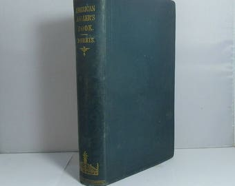Antique Fishing Book 1864 The American Angler's Book: embracing The Natural History of Sporting Fish Cloth Hardcover Illustrated