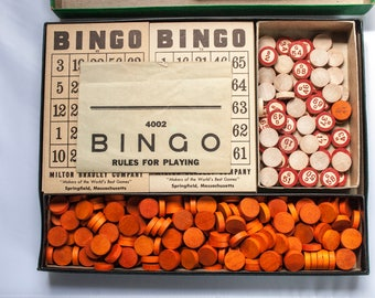 BINGO, Board Game, Milton Bradley, Bingo Cards,
