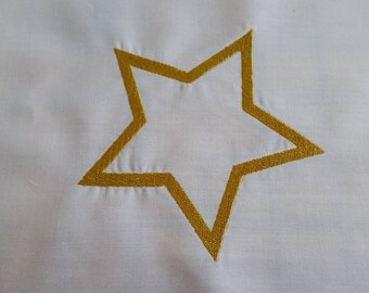 Star Embroidered Quilt block