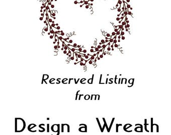RESERVED LISTING For DANIELLE - Fall Front Door Wreath - Storm Door - Bittersweet Primitive Wreath - Farmhouse Door Wreath - Rustic Wreath