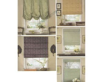 Roman Shades Pattern Simplicity 3910 Designed by Robin Greenwood ©2006 Uncut Unused Sewing Pattern Shades Blinds Window Coverings