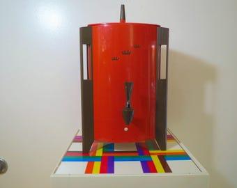 Vintage 1970s MID Century Modern Orange Plastic Groovy Retro Large Coffee Maker Urn Pot