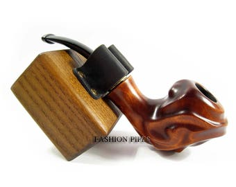 """Fashion Pipe - """"DRIFT"""" Wooden Tobacco Smoking Pipe of Pear Root Wood and Pouch, Designed for Pipe Smokers"""
