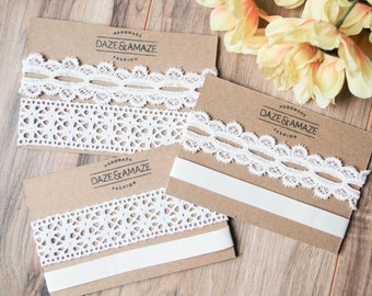 White and ivory embroidery choker necklace sets | Summer bohemian boho festival jewelry | Wide choker | Floral embroidered lace choker |