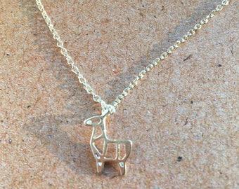 Origami necklace - alpaca