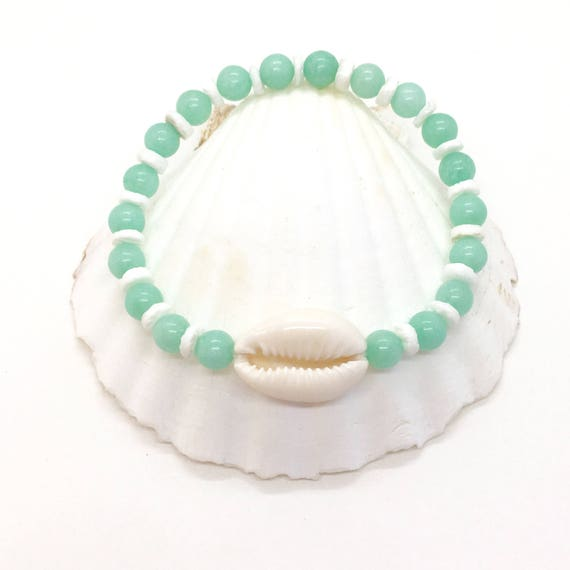 beach jewelry, mermaid shell bracelet
