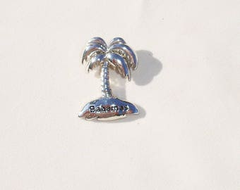Sterling Silver Freeport Bahamas Palm Tree Pendant