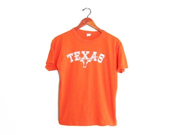 vintage t shirt / Texas Longhorns / Champion t shirt / 1980s University of Texas orange t shirt Small