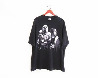 vintage t shirt / Jay Z shirt / Nas shirt / 90s rap tee / black oversize Jay Z and Nas rap t shirt XXL