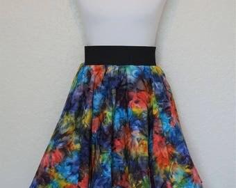 Pixie Skirt, Boho Skirt, Festival Skirt, Hippie Skirt, Tie-Dye Skirt