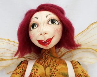 Amber Autumn Fairy Art Doll