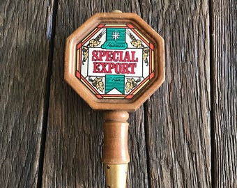 Heileman's Beer Tap Handle - Special Export Beer Tap Handle - Vintage Heileman's Beer Tap Handle - Vintage Wood And Mirror Beer Tap Handle