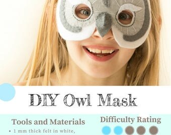 Owl Mask PATTERN.