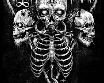 Demons, Satanic, Gothic, gothic art, Occult,Black Metal, Skull,Death, dark Art by Marcus Jones