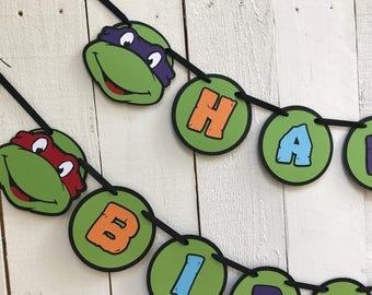 Ninja Turtle Birthday Banner