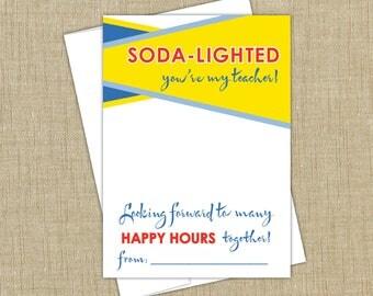 Sonic Gift Card Holder. INSTANT DOWNLOAD. Back to School Teacher Gift