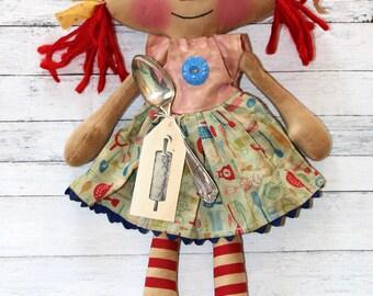 Kitchen Utensils Mini Emma Anne Primitive Raggedy Ann Doll (HAFAIR)