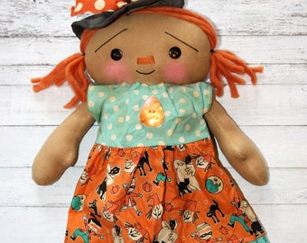 Halloween Witchie Annie - Primitive Raggedy Ann Doll