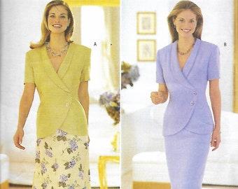Butterick 5998 David Warren Asymmetrical Top And Skirt Sewing Pattern, Size 14-18, UNCUT