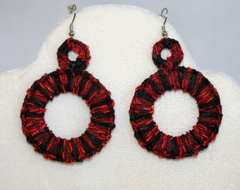 Crochet Hoop Earrings
