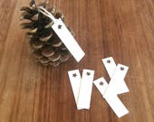 Mini Price Tags / Recycled Rectangular Price Labels Swing Tags Hang Tags Jewellery Labels / Eco-friendly Recycled Wedding / 25