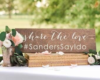 Wedding hashtag sign,  wedding Instagram sign, social media sign, Instagram sign, wood wedding sign, Instagram wedding sign, share the love