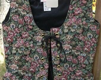 Brocade Renaissance Bodice: Floral Pattern-2 Sizes